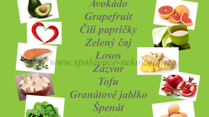 Potraviny podporujúce spaľovanie tukov